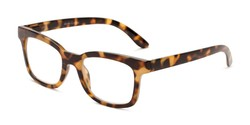 Angle of The Collegiate in Dark Tortoise, Women's and Men's Retro Square Reading Glasses