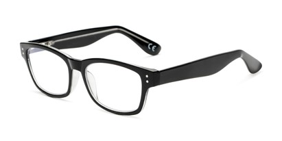 Angle of The Conan Multi Focus Reader by Foster Grant in Black, Women's and Men's Rectangle Reading Glasses