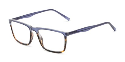 Angle of The Connor in Blue/Tortoise Fade, Men's Rectangle Reading Glasses