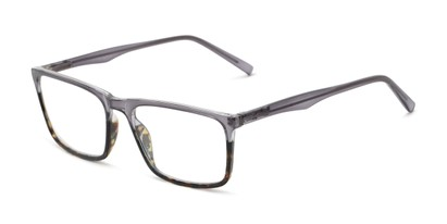 Angle of The Connor in Grey/Tortoise Fade, Men's Rectangle Reading Glasses