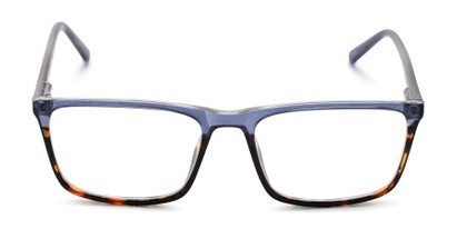 Front of The Connor in Blue/Tortoise Fade
