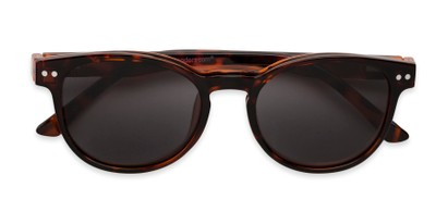 Folded of The Cosmo Polarized Magnetic Bifocal Reading Sunglasses in Tortoise with Smoke