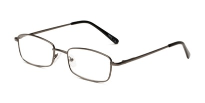 Angle of The Dakota in Gunmetal, Men's Rectangle Reading Glasses