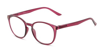 Angle of The Darcy in Wine, Women's Round Reading Glasses