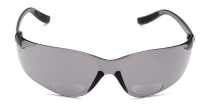Front of The Darius Bifocal Safety Reading Sunglasses in Grey with Smoke Lenses