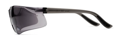 Side of The Darius Bifocal Safety Reading Sunglasses in Grey with Smoke Lenses