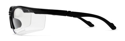Side of The David Bifocal Safety Glasses in Black with Clear Lenses