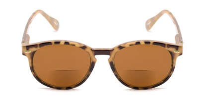 Front of The Drama Bifocal Reading Sunglasses in Light Tortoise with Amber