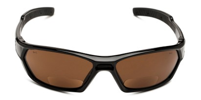 Front of The Driving Bifocal Safety Goggles in Black with Amber Driving Lenses