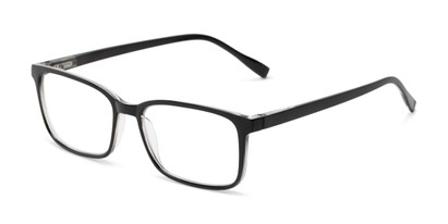 Angle of The Edward Blue Light Reader in Black, Men's Rectangle Computer Glasses