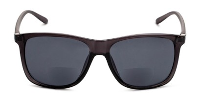 Front of The Everett Bifocal Reading Sunglasses in Dark Grey with Smoke