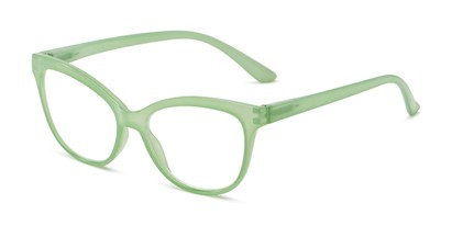 Angle of The Farrah in Sage Green, Women's Cat Eye Reading Glasses