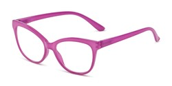 Angle of The Farrah in Purple Orchid, Women's Cat Eye Reading Glasses