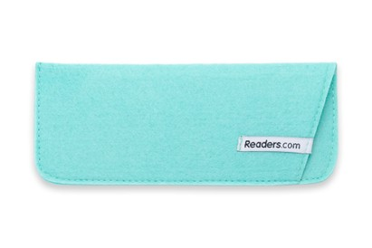 Front of The Felt Reading Glasses Pouch in Teal