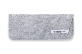 Angle of The Felt Reading Glasses Pouch in Light Grey, Women's and Men's  Soft Cases / Pouches
