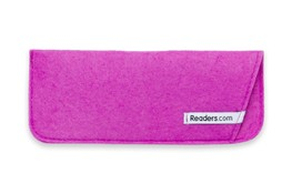 Angle of The Felt Reading Glasses Pouch in Purple, Women's and Men's  Soft Cases / Pouches