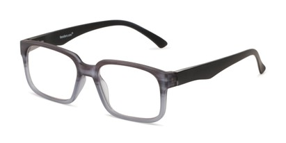 Angle of The Fritz Computer Reader in Grey with Yellow, Men's Rectangle Reading Glasses