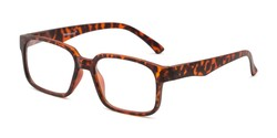 Angle of The Fritz Computer Reader in Matte Tortoise, Men's Rectangle Reading Glasses