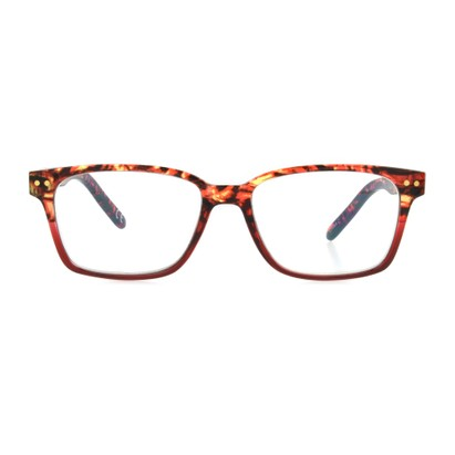 Front of The Aurelia Blue Light e.Glasses in Red Tortoise