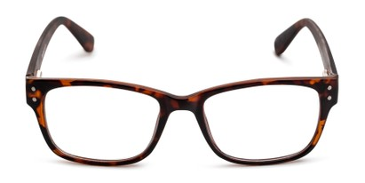 Front of The Huxley Bifocal in Matte Brown Tortoise