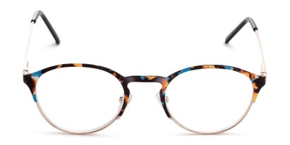 Front of The Samantha in Blue Tortoise/Gold
