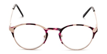 Front of The Samantha in Pink Tortoise/Gold