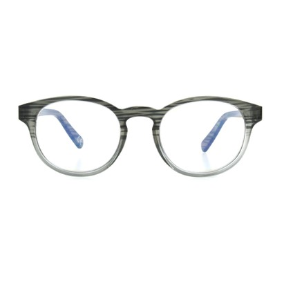 Front of The Shane Blue Light e.Glasses in Charcoal Grey