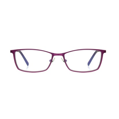 Front of The Tibby Computer Glasses in Berry Pink