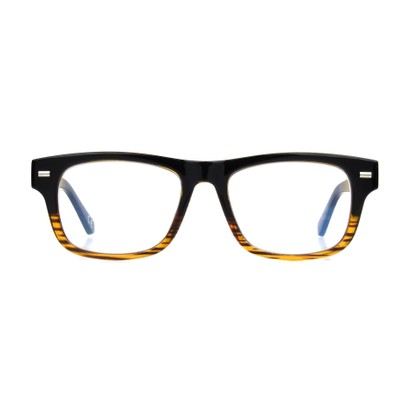 Front of The William Computer Glasses in Black/Brown