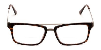 Front of The Fulham Bifocal in Matte Brown Tortoise