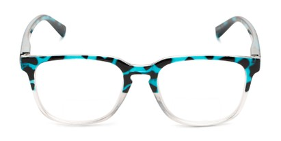 Front of The Governor Bifocal in Blue Tortoise/ Clear