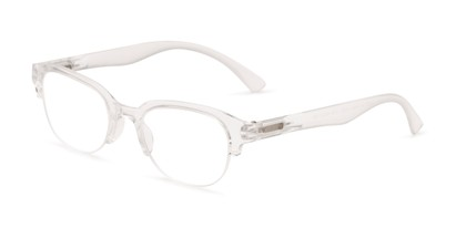 Angle of The Granger in Clear, Women's Cat Eye Reading Glasses