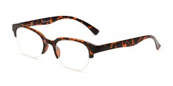 Angle of The Granger in Brown Tortoise, Women's Cat Eye Reading Glasses