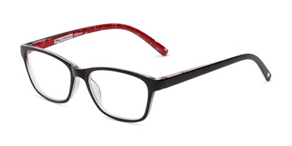 Angle of The Imagination in Black/Red, Minnie Mouse Print, Women's and Men's Rectangle Reading Glasses