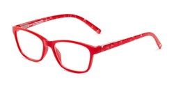 Angle of The Imagination in Red, Minnie Mouse Print, Women's and Men's Rectangle Reading Glasses