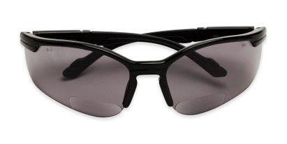 Folded of The Jared Bifocal Safety Reading Sunglasses in Black with Smoke Lenses