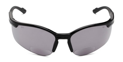 Front of The Jared Bifocal Safety Reading Sunglasses in Black with Smoke Lenses
