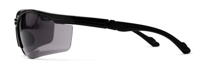 Side of The Jared Bifocal Safety Reading Sunglasses in Black with Smoke Lenses