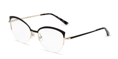 Angle of The Jasmine in Black, Women's Cat Eye Reading Glasses