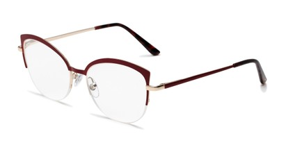 Angle of The Jasmine in Red, Women's Cat Eye Reading Glasses