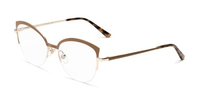 Angle of The Jasmine in Tan, Women's Cat Eye Reading Glasses
