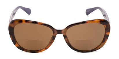 Front of The Jenny Bifocal Reading Sunglasses in Tortoise & Indigo/ Amber