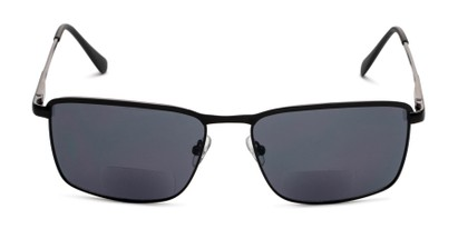 Front of The Ken Bifocal Reading Sunglasses in Matte Black with Smoke