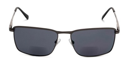 Front of The Ken Bifocal Reading Sunglasses in Matte Grey with Smoke