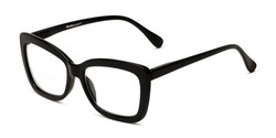 Angle of The Kendra Bifocal in Black, Women's Cat Eye Reading Glasses