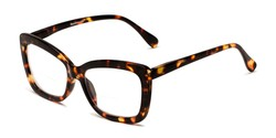 Angle of The Kendra Bifocal in Brown Tortoise, Women's Cat Eye Reading Glasses