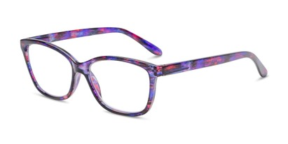 Angle of The Kiki in Purple, Women's Cat Eye Reading Glasses