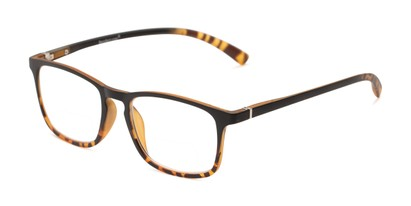 Angle of The Lancaster Bifocal in Matte Black & Brown Tortoise, Women's and Men's Square Reading Glasses
