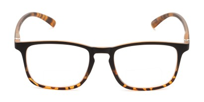 Front of The Lancaster Bifocal in Matte Black & Brown Tortoise