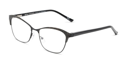 Angle of The Laura in Black/Grey, Women's Cat Eye Reading Glasses